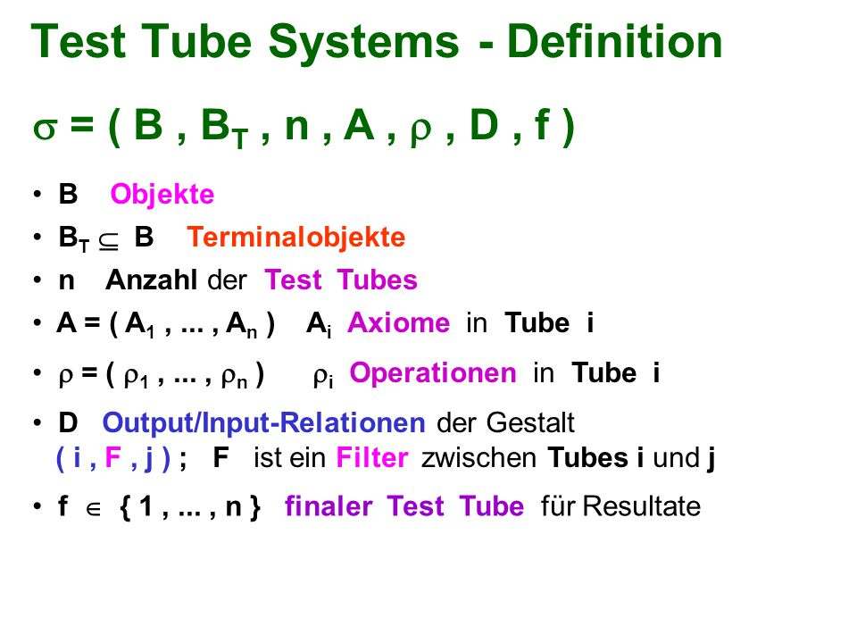 Test Tube Systems - Definition