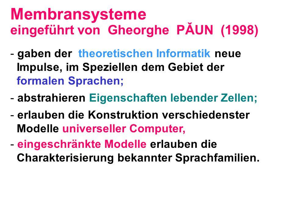 Membransysteme eingeführt von Gheorghe PǍUN (1998)