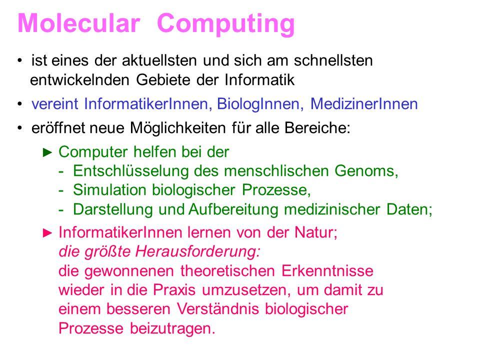 Molecular Computing ist eines der aktuellsten und sich am schnellsten
