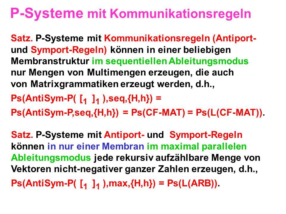 P-Systeme mit Kommunikationsregeln