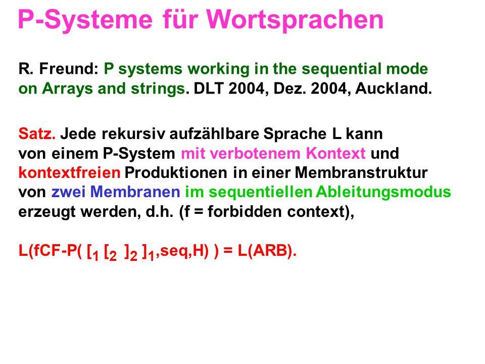 P-Systeme für Wortsprachen