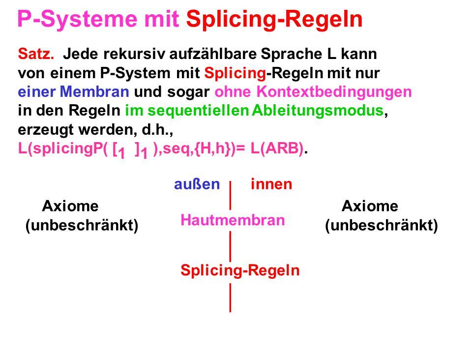 P-Systeme mit Splicing-Regeln