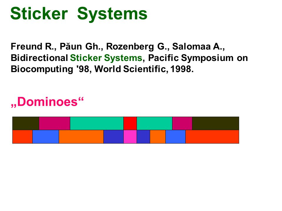 "Sticker Systems ""Dominoes"