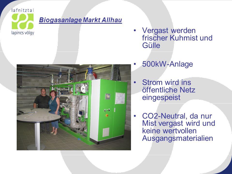 Biogasanlage Markt Allhau