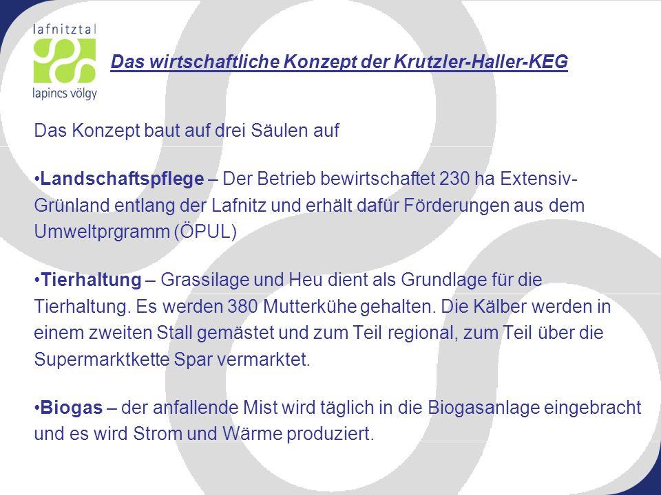 Das wirtschaftliche Konzept der Krutzler-Haller-KEG