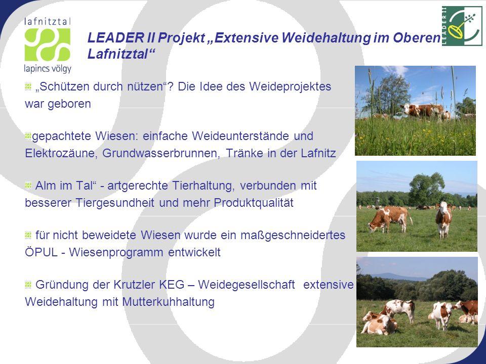 """LEADER II Projekt """"Extensive Weidehaltung im Oberen Lafnitztal"""