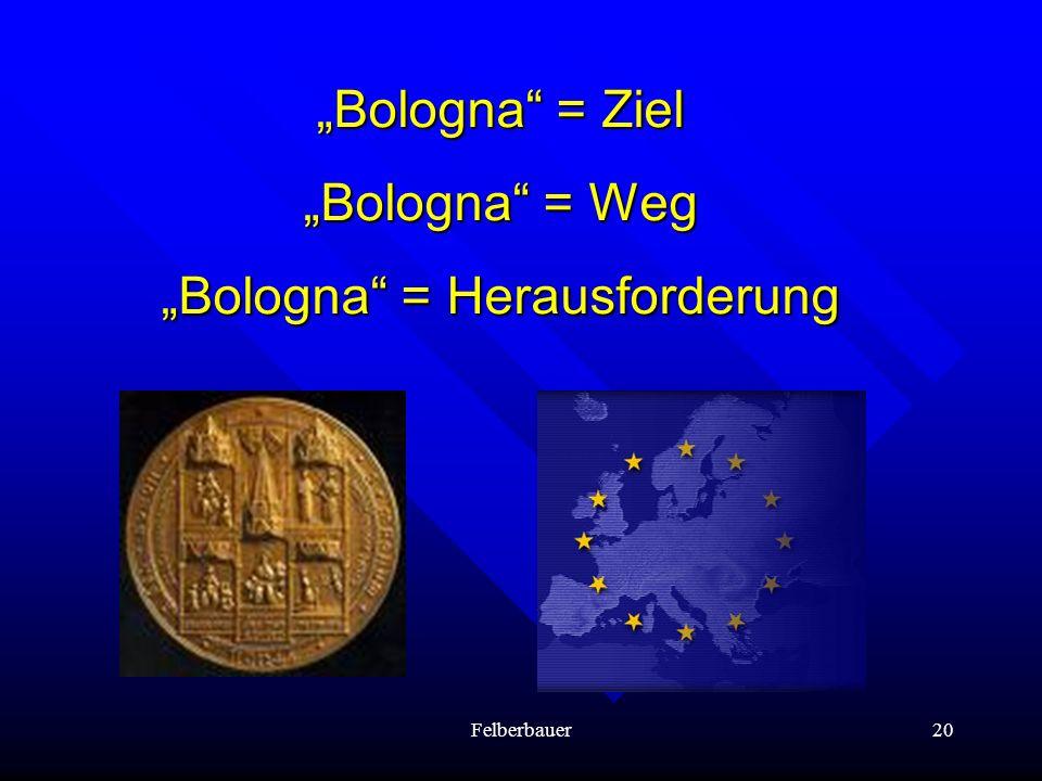 """Bologna = Herausforderung"