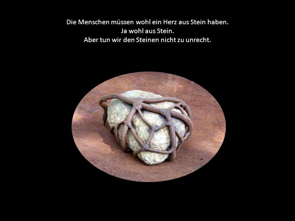 Die Menschen müssen wohl ein Herz aus Stein haben. Ja wohl aus Stein.