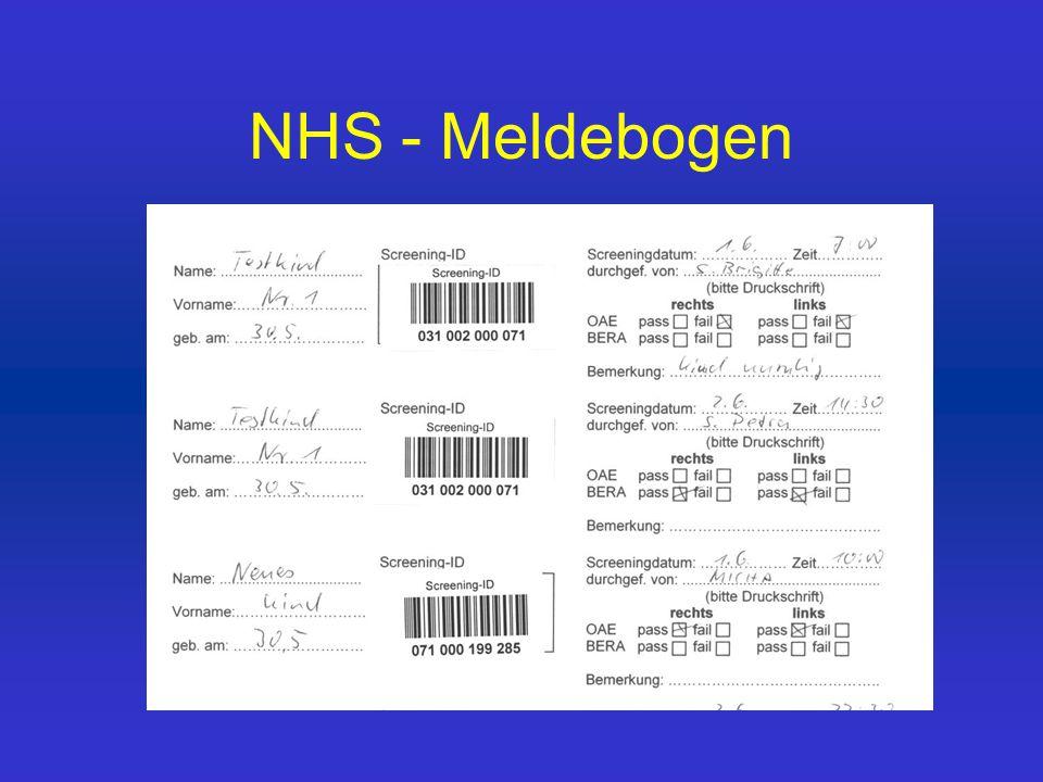 NHS - Meldebogen