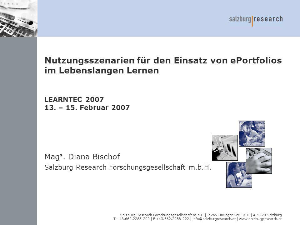 Maga. Diana Bischof Salzburg Research Forschungsgesellschaft m.b.H.
