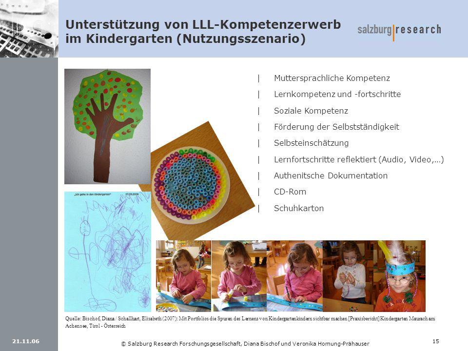 Unterstützung von LLL-Kompetenzerwerb im Kindergarten (Nutzungsszenario)