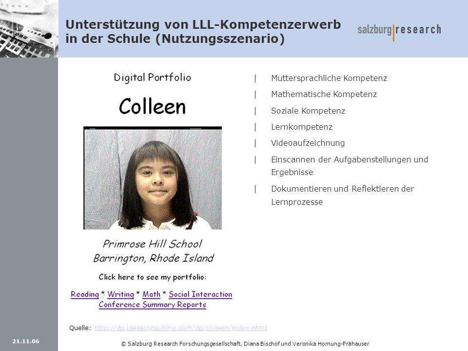 Unterstützung von LLL-Kompetenzerwerb in der Schule (Nutzungsszenario)