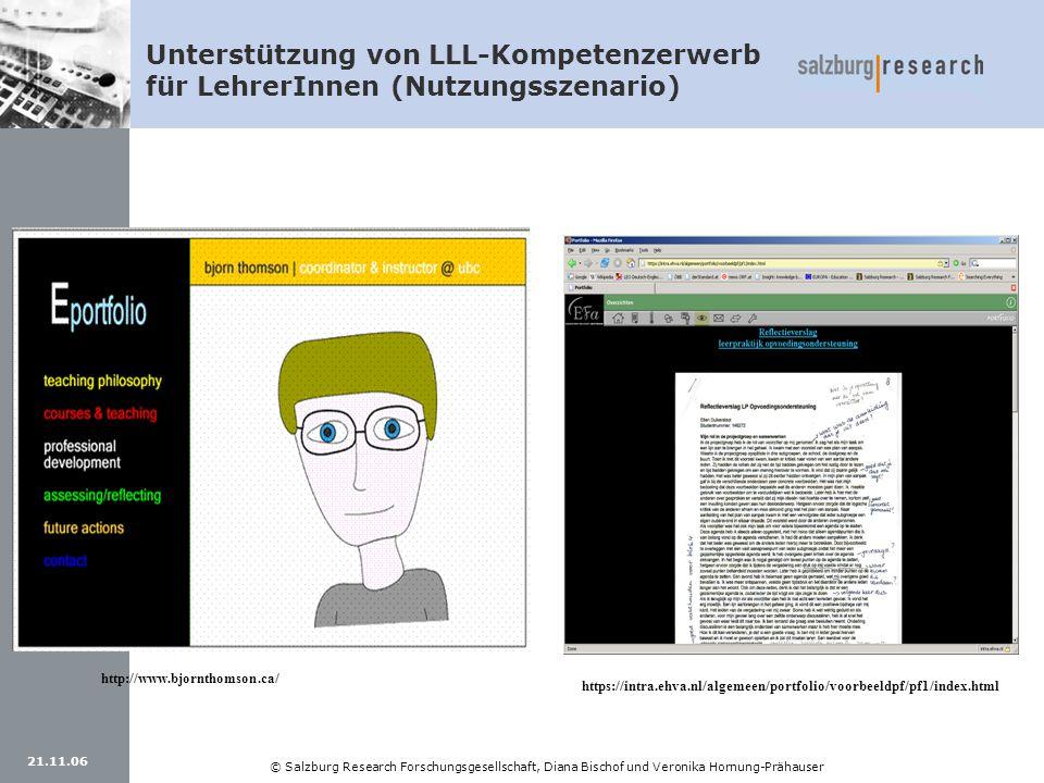 Unterstützung von LLL-Kompetenzerwerb für LehrerInnen (Nutzungsszenario)