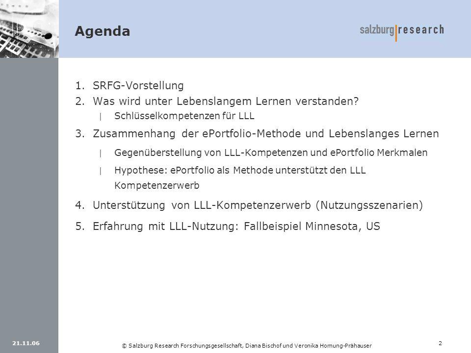 Agenda SRFG-Vorstellung Was wird unter Lebenslangem Lernen verstanden