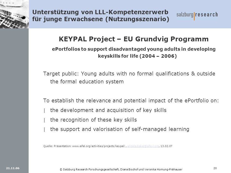 KEYPAL Project – EU Grundvig Programm