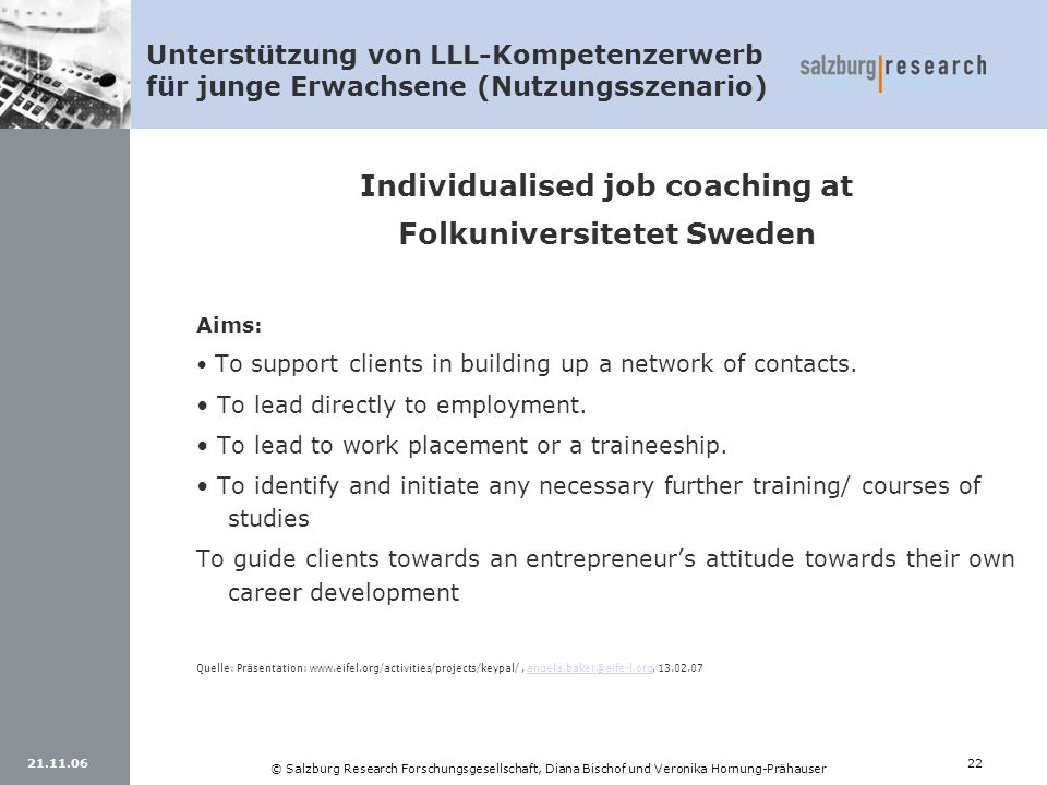 Individualised job coaching at Folkuniversitetet Sweden