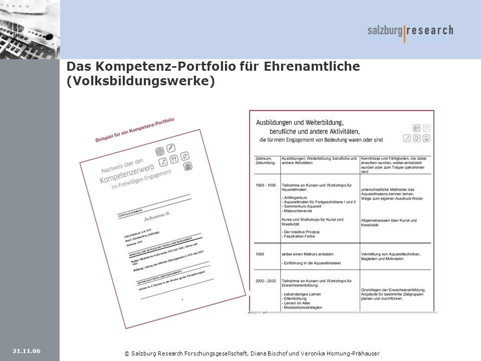 Das Kompetenz-Portfolio für Ehrenamtliche (Volksbildungswerke)