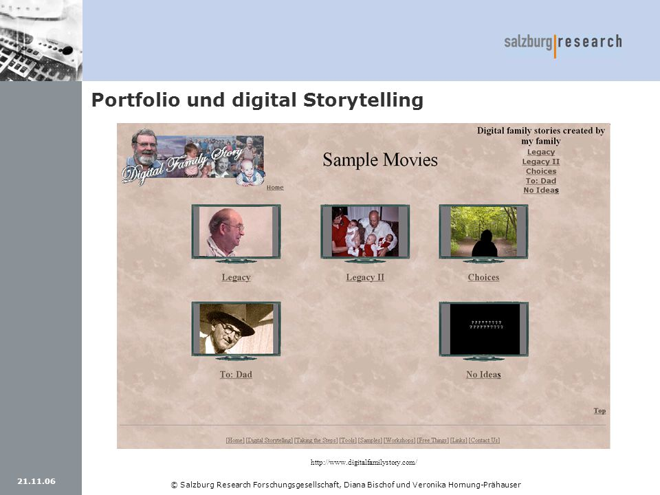 Portfolio und digital Storytelling