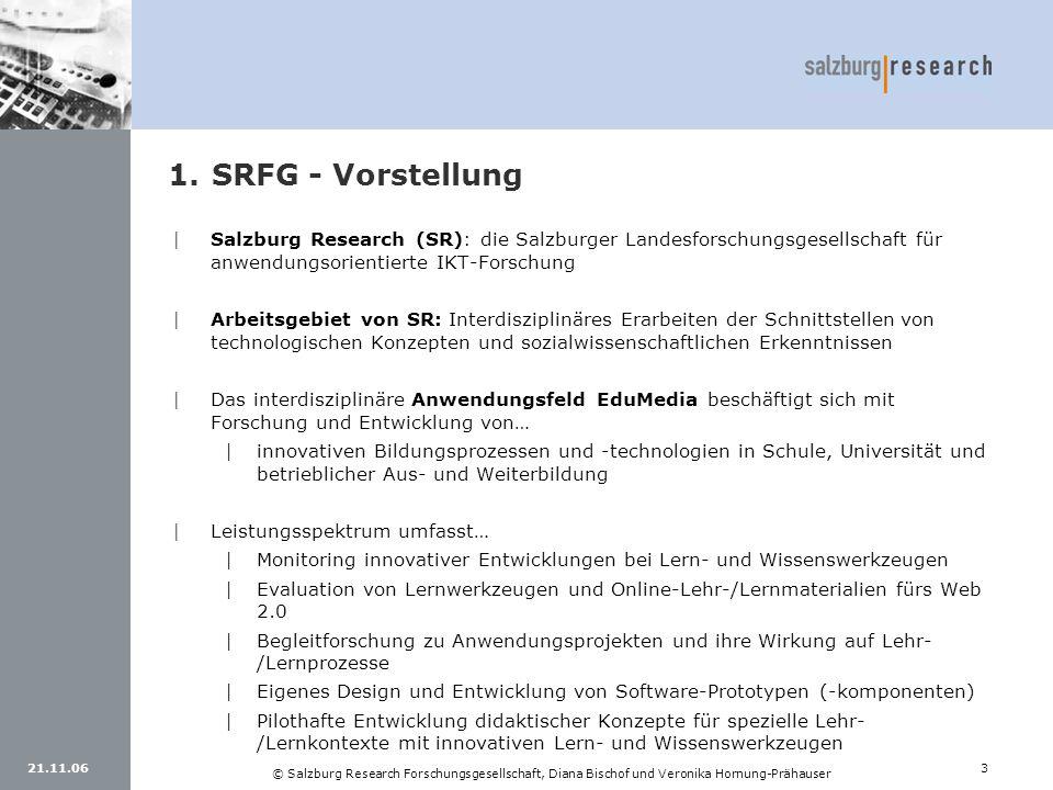 SRFG - Vorstellung Salzburg Research (SR): die Salzburger Landesforschungsgesellschaft für anwendungsorientierte IKT-Forschung.