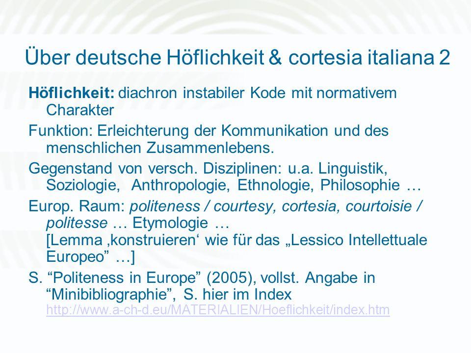 Über deutsche Höflichkeit & cortesia italiana 2