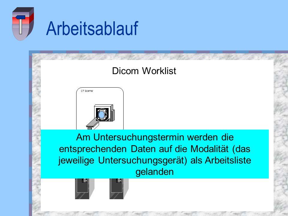 Arbeitsablauf Dicom Worklist