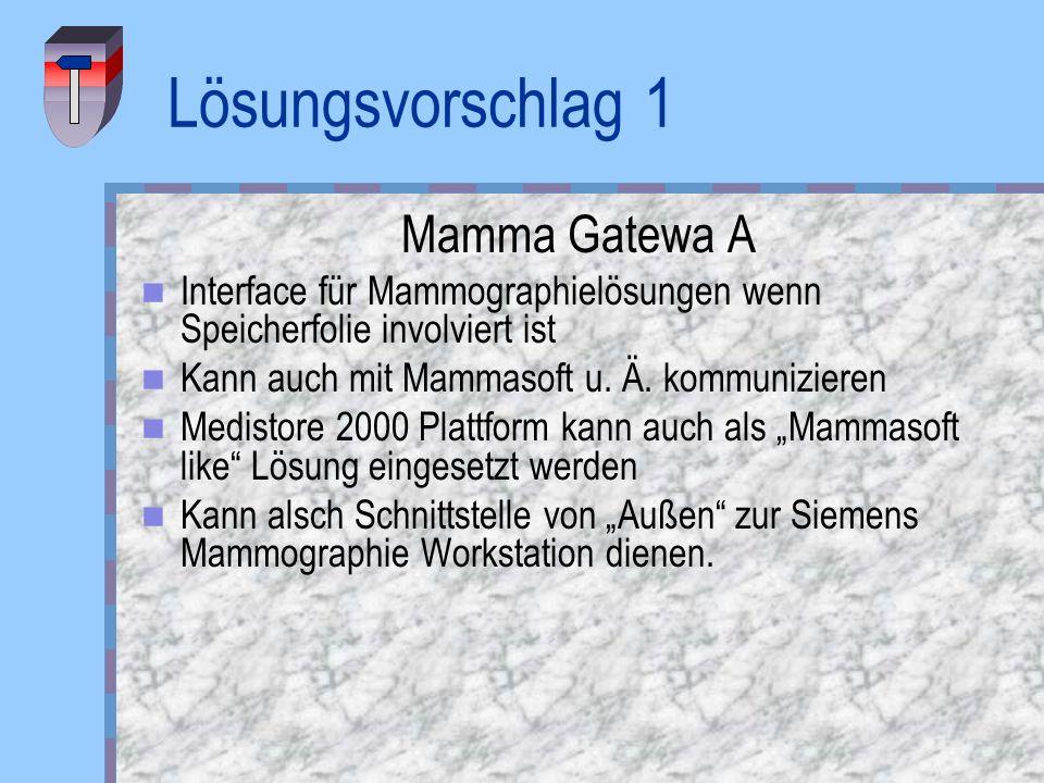 Lösungsvorschlag 1 Mamma Gatewa A
