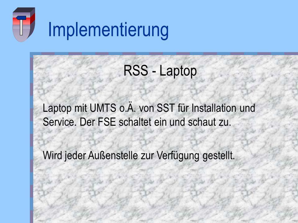 Implementierung RSS - Laptop