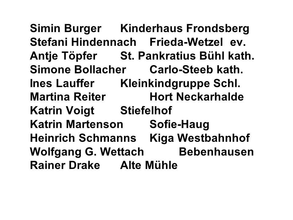 Simin Burger. Kinderhaus Frondsberg Stefani Hindennach