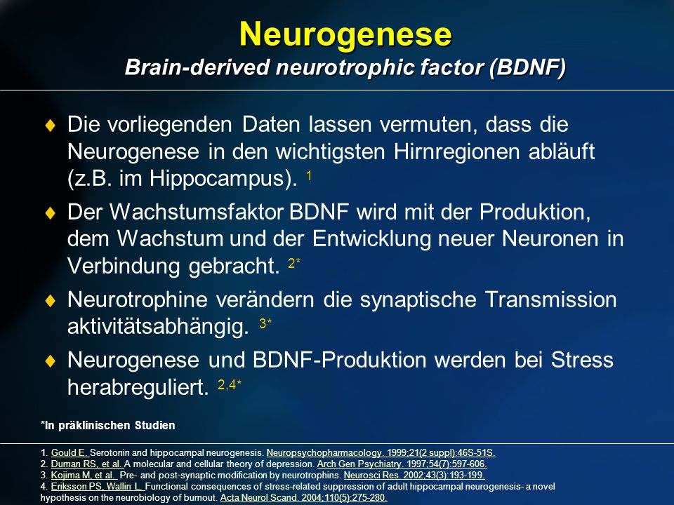 Neurogenese Brain-derived neurotrophic factor (BDNF)