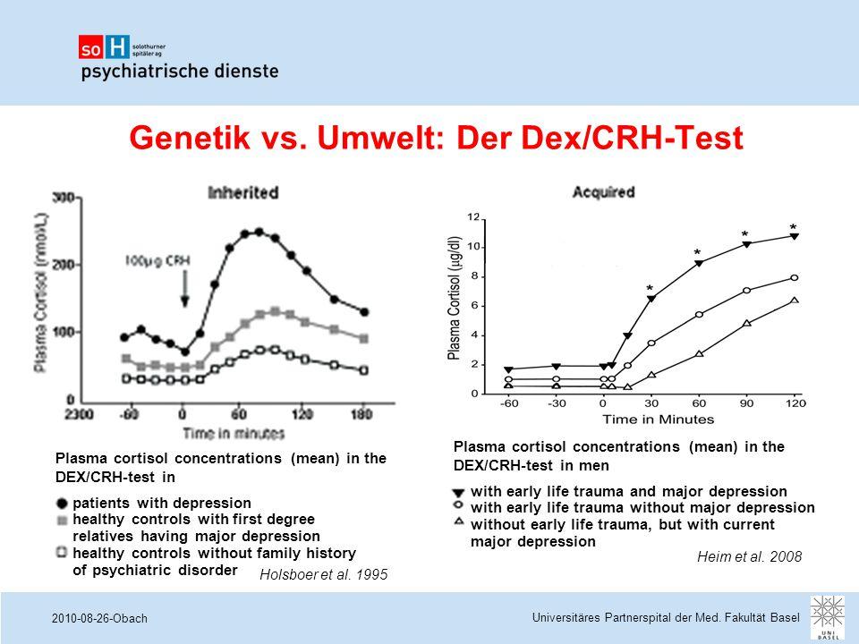 Genetik vs. Umwelt: Der Dex/CRH-Test