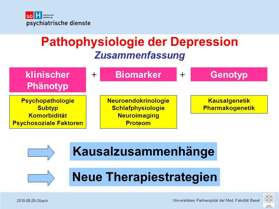 Pathophysiologie der Depression Zusammenfassung Psychosoziale Faktoren