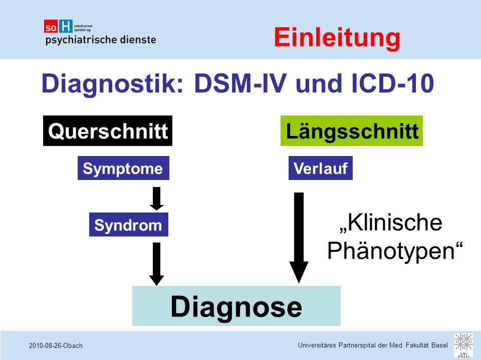 Diagnostik: DSM-IV und ICD-10