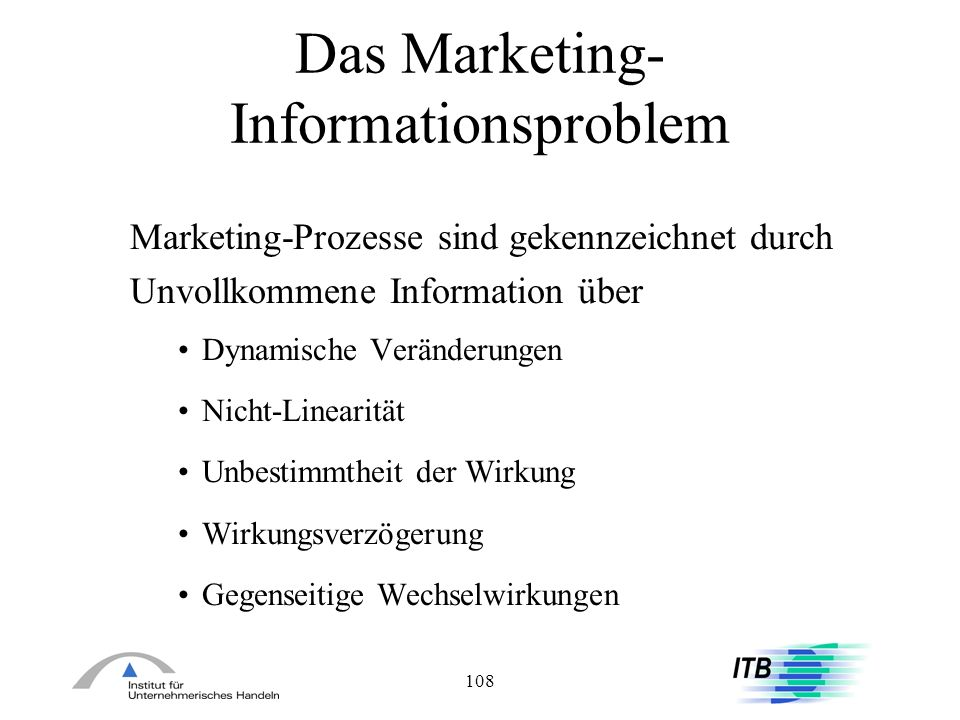 Das Marketing-Informationsproblem