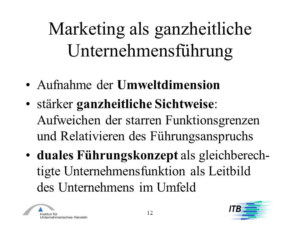 Marketing als ganzheitliche Unternehmensführung
