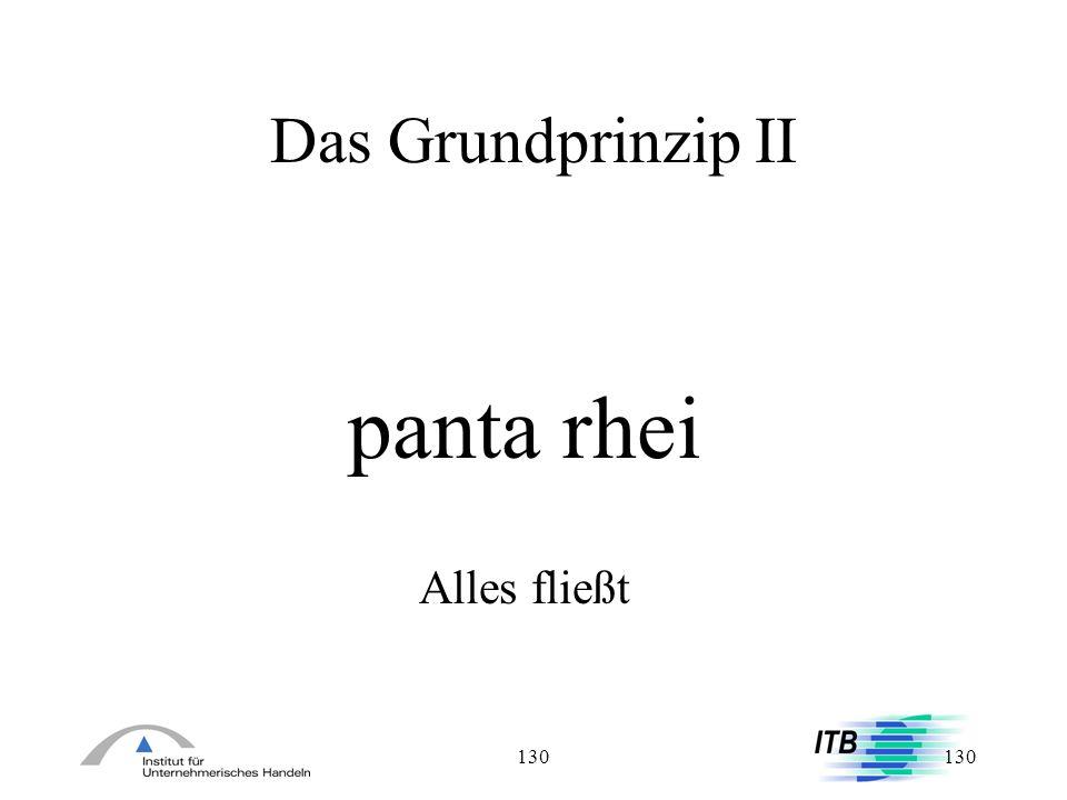 Das Grundprinzip II panta rhei Alles fließt 130