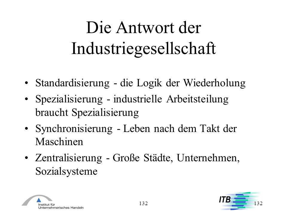 Die Antwort der Industriegesellschaft
