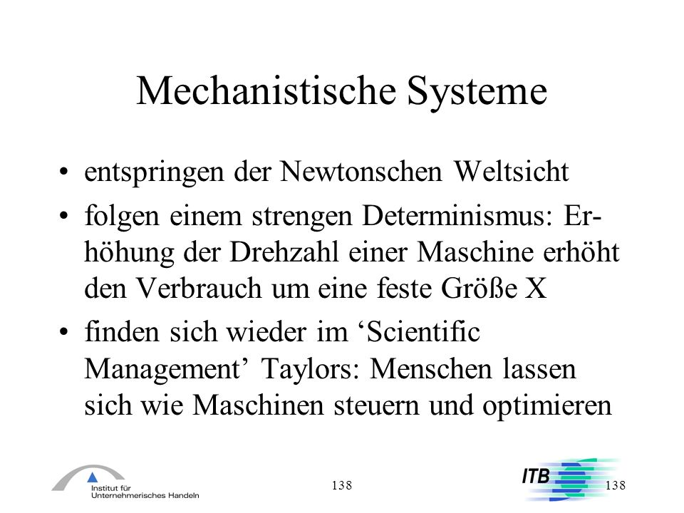 Mechanistische Systeme