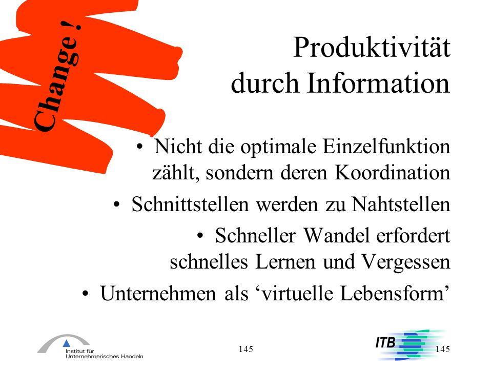 Produktivität durch Information