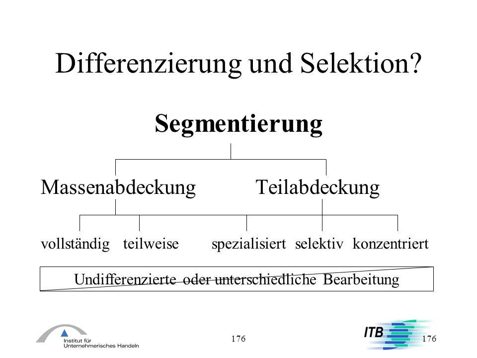 Differenzierung und Selektion
