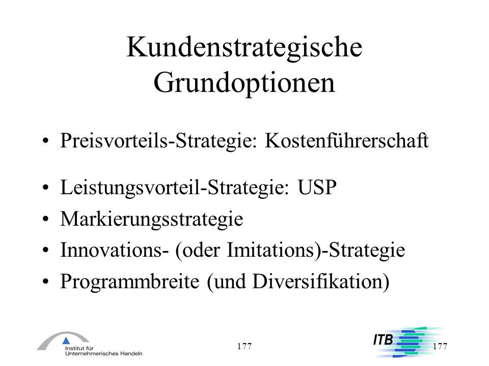 Kundenstrategische Grundoptionen