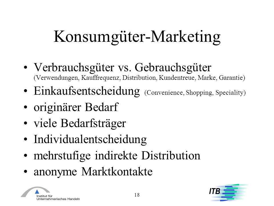 Konsumgüter-Marketing
