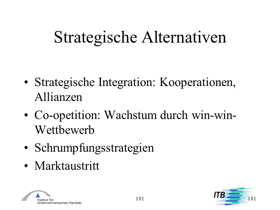 Strategische Alternativen