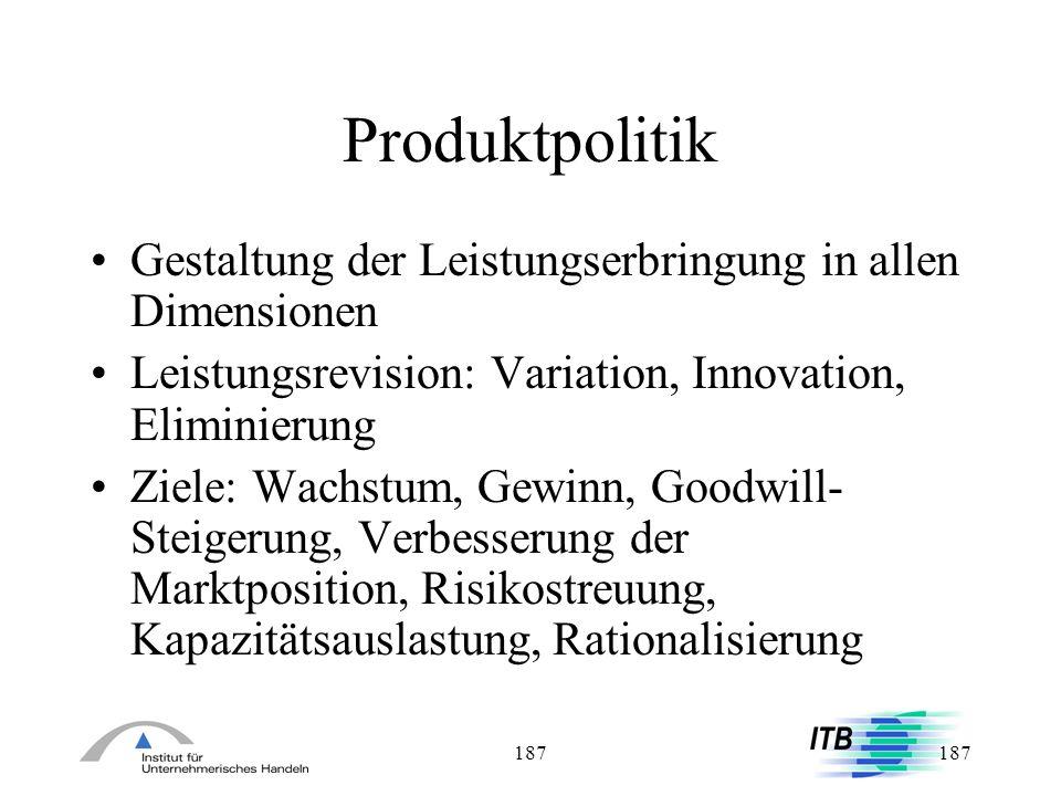 Produktpolitik Gestaltung der Leistungserbringung in allen Dimensionen