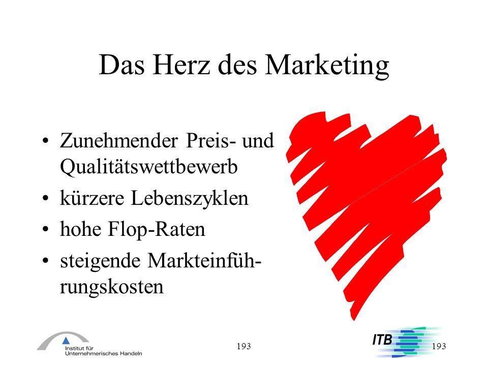 Das Herz des Marketing Zunehmender Preis- und Qualitätswettbewerb