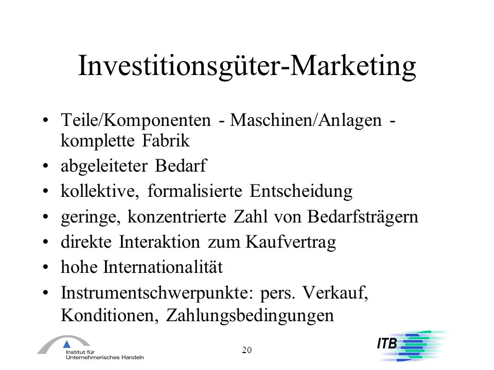 Investitionsgüter-Marketing