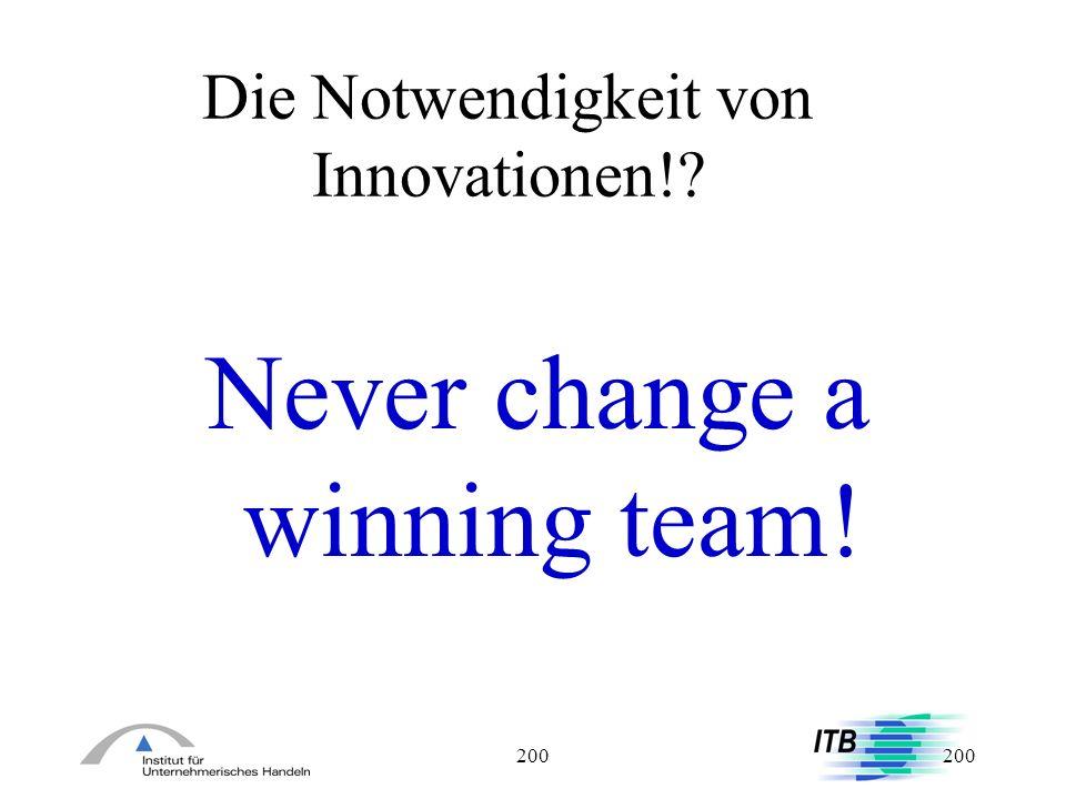 Die Notwendigkeit von Innovationen!