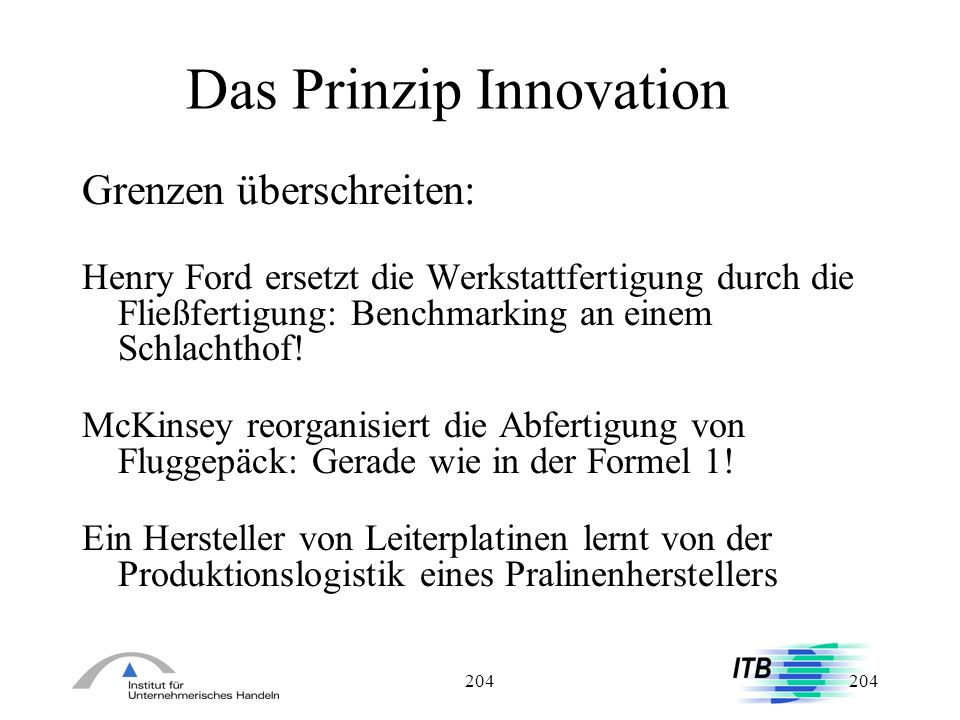 Das Prinzip Innovation