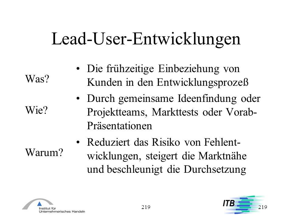 Lead-User-Entwicklungen