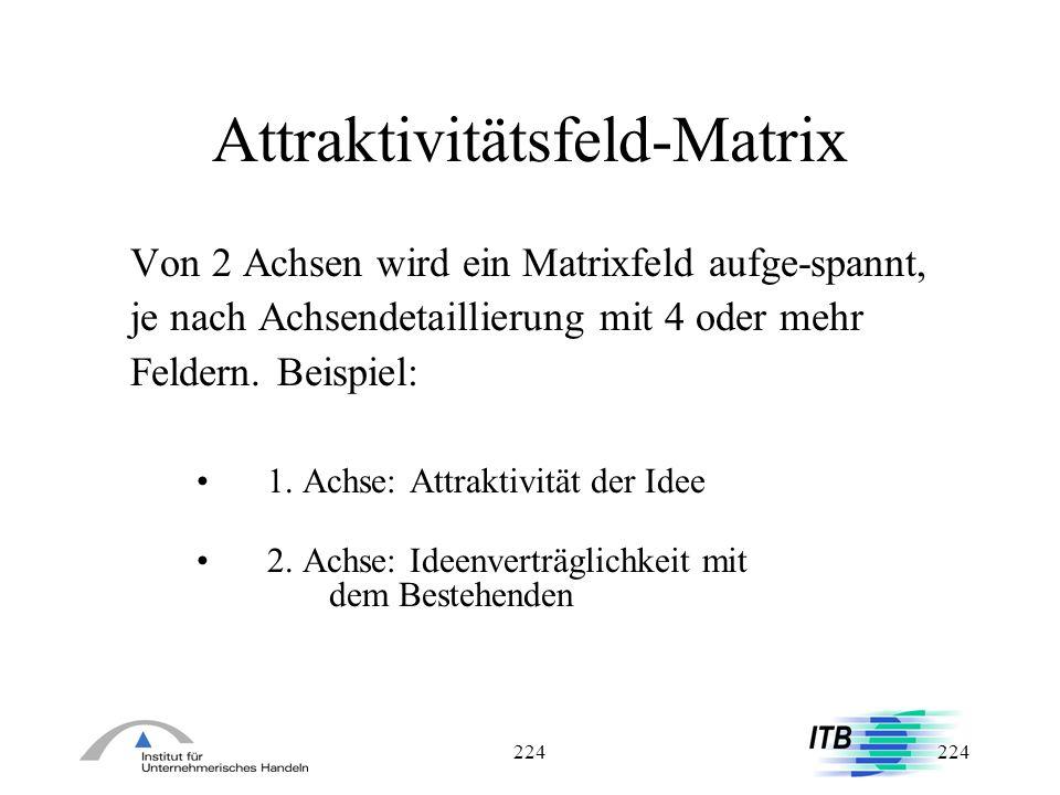 Attraktivitätsfeld-Matrix