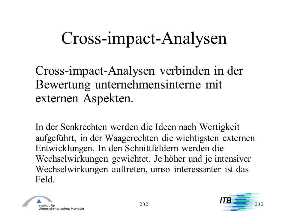 Cross-impact-Analysen